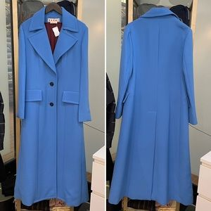 Marni Blue Maxi Coat